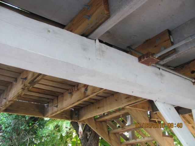 Handyman Deck Extension, (very unsafe)